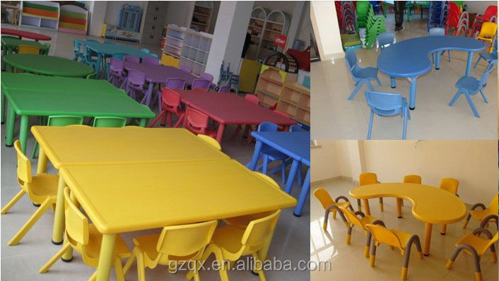 Fine Quality Rectangle 4 Seat Children Table And Chairs, Children School  Desk, Kids