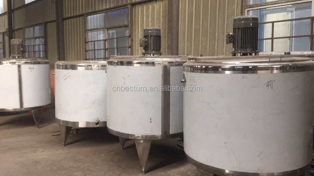 2017 stainless steel food grade 3 layers storage and mix tank with heater