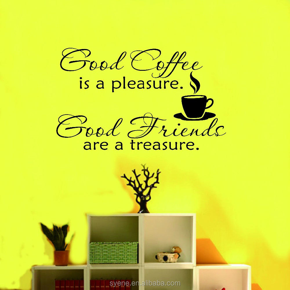 Kitchen Wall Tile Stickers 3d Art Vinyl Quotes Good Friend Is A ...