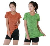 Women Quick Dry Fitness Yoga Clothing Space Dyeing Sports Gym clothing t Shirts