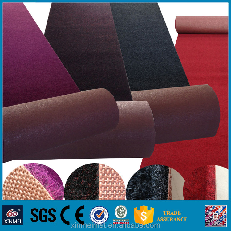 PVC Material and snti slip Surface Treatment portable polyester fiber anti-slip flooring