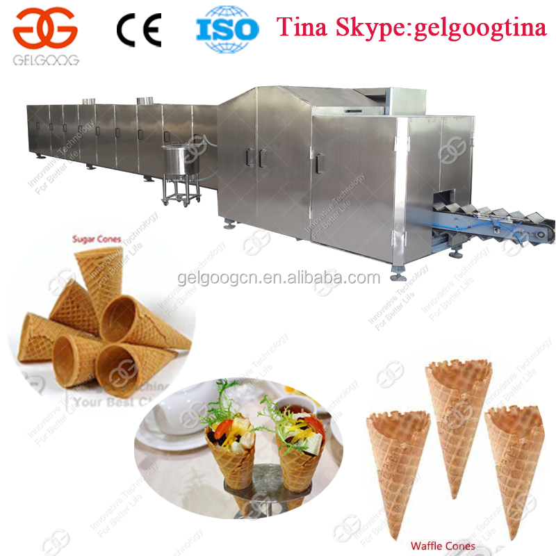 High Quality Full Automatic Making Icecream Cone Wafer Cone Baking Machine