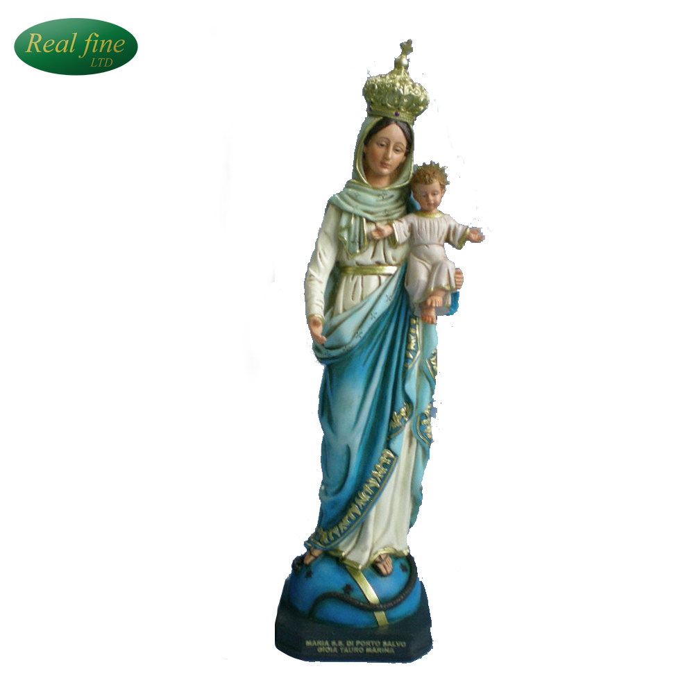 Resin Religious Goddess Figurine with baby For Decoration