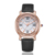 KEZZI Brand Vogue Fashion Ladies Watches Gleaming Crystal Leather Strap Women Watch with Quartz Movement