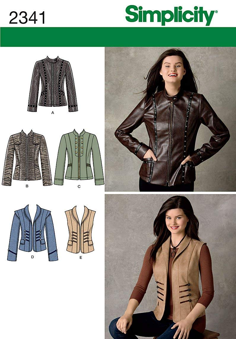 Simplicity Sewing Pattern 2341 Misses' Jackets, U5 (16-18-20-22-24)
