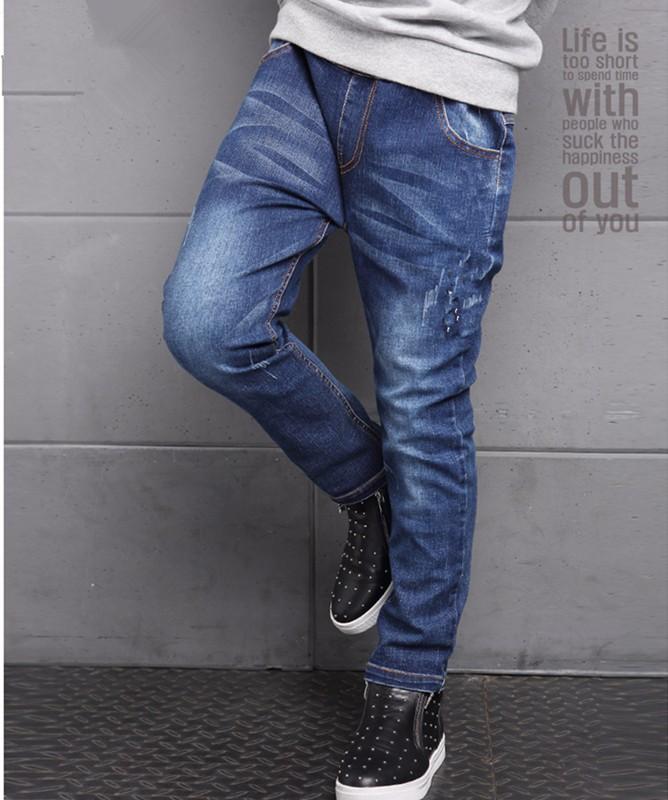Boys Jeans Kids Stretch Slim Designer Stylish Fashion Denim Ripped Faded New