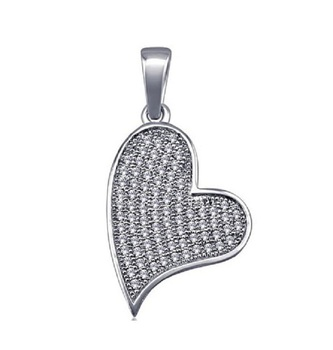 Factory Manufacturing 925 silver heart pendant