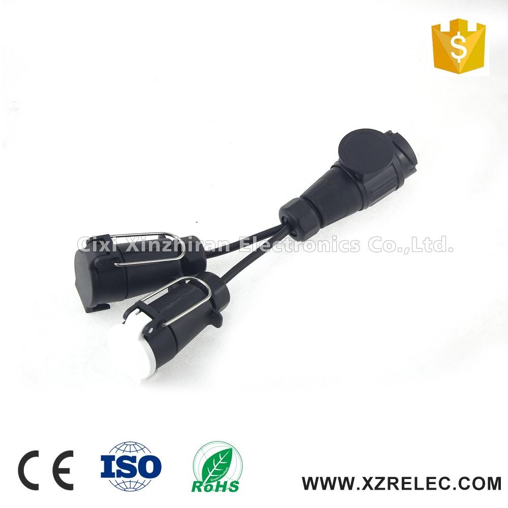2*7pin trailer socket 13 pin trailer plug with trailer wiring, Wiring diagram