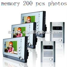 Wholesale 7'' color wired video camera doorbell with 200 photos memory