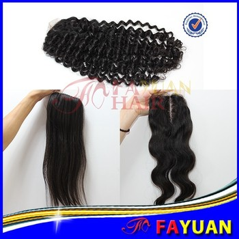 Hot sale size 4 X4 free parting body wave Brazilian human hair silk closure
