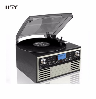 BT vinyl turntable CD recorder and karaoke player