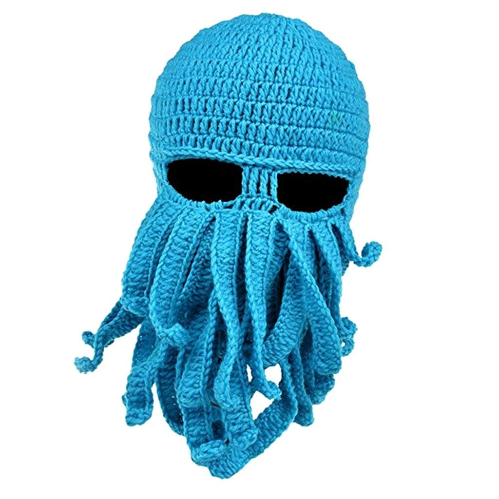 Dovewill Winter Mens Womens Funny Tentacle Octopus Cthulhu Knit Beanie Hat Cap Wind Mask