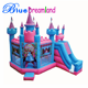Multifunctional big beautiful princess inflatable bouncer castle for baby playland