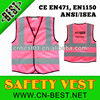 2014 NEWS fashion hi-vis pink safety vest NET TEX