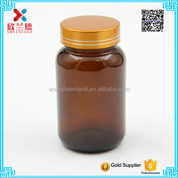 150cc Amber bottles for pharmaceutical industrial use with screw caps