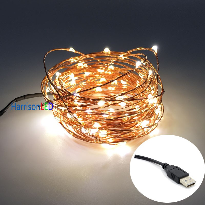 33ft 100led copper wire string lights, mini led starry light with UL ...