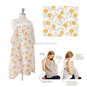 Lower moq new arrival print 100% cotton breast feeding nursing cover