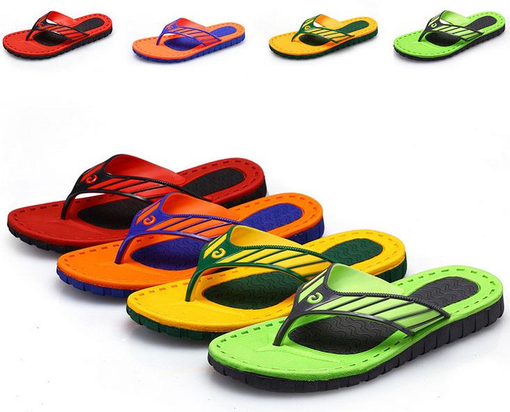 5e4a68395 Get Quotations · Brand 2015 men's flip flops Shoes Summer Beach flip flops  men's Casual sandals soft flat Slippers