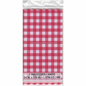 en plastique rouge et blanc À carreaux nappes-6 pc-pique-nique table