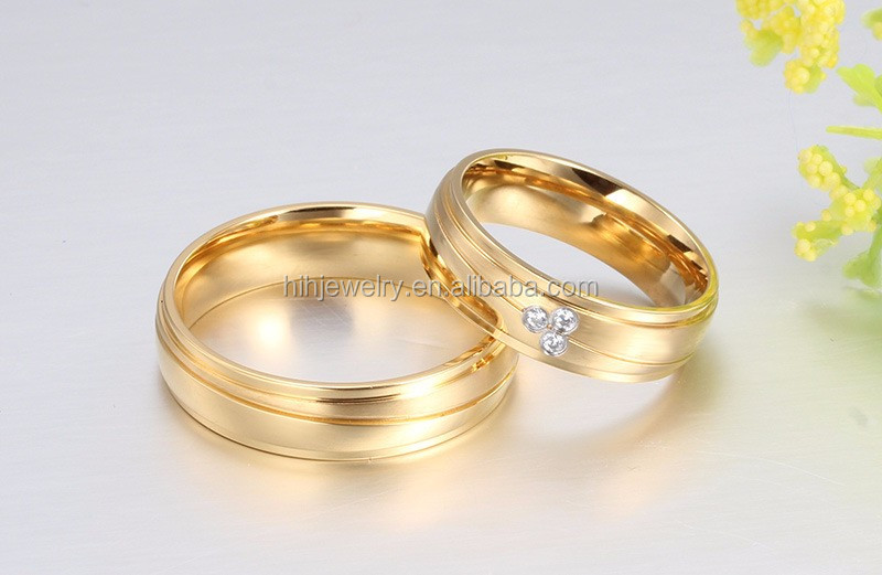 Fashion Love Ring For Couple Gold Design Couples