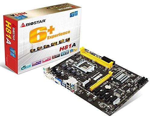 Biostar Motherboard H81A Core i7/i5/i3 LGA1150 H81 DDR3 SATA PCI Express USB ATX Like TB85
