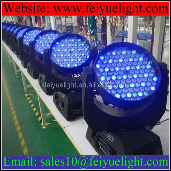 Professional Stage Lighting Equipment RGBW 108 3w LED Moving Head Wash