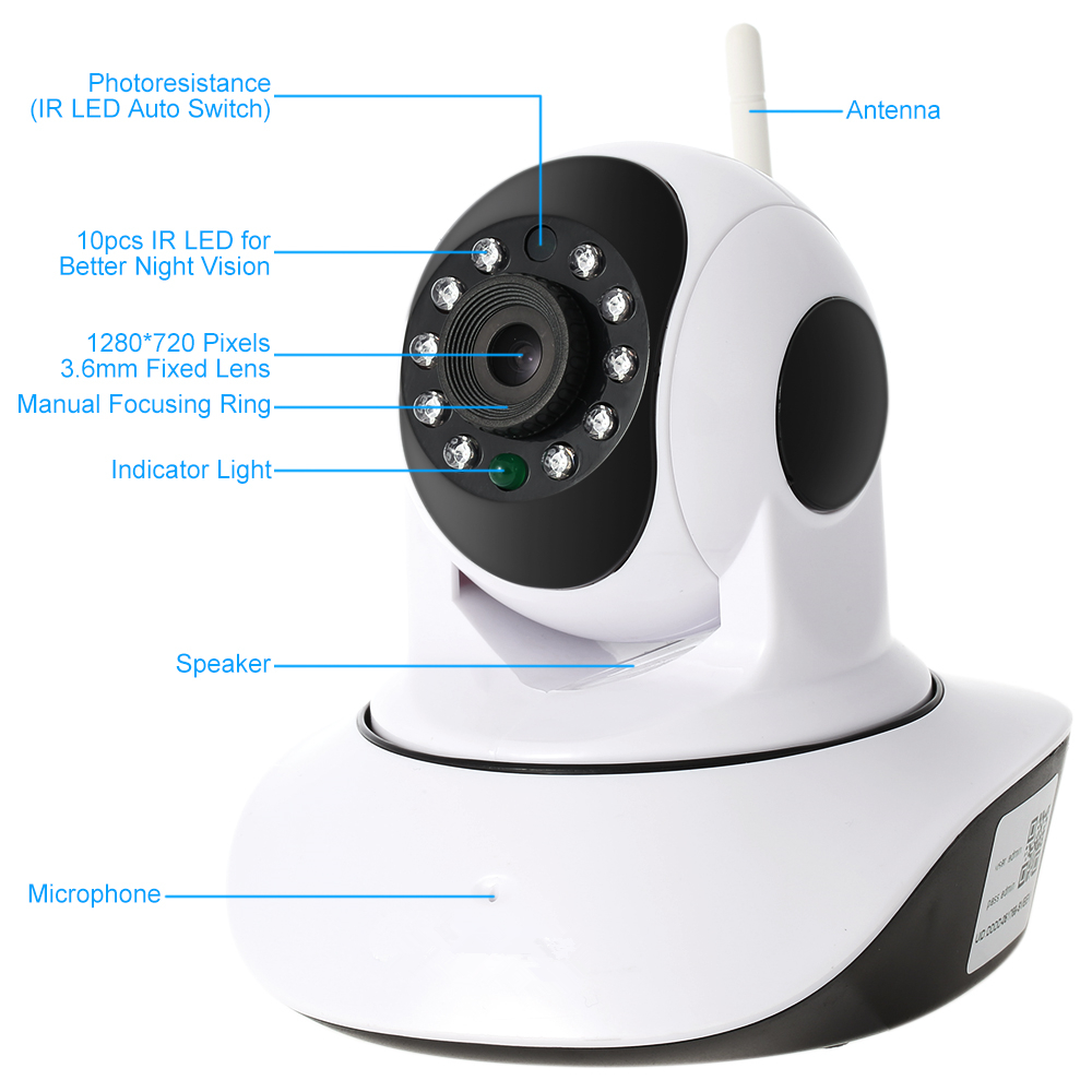Home Use Onvif Compatible 1080p Full Hd Wifi 2p2 Wireless 2mp Ip Camera Ptz  With 2 Way Audio&rj 45 Port&sd Card Slot - Buy Wifi 2p2 Wireless 2mp Ip