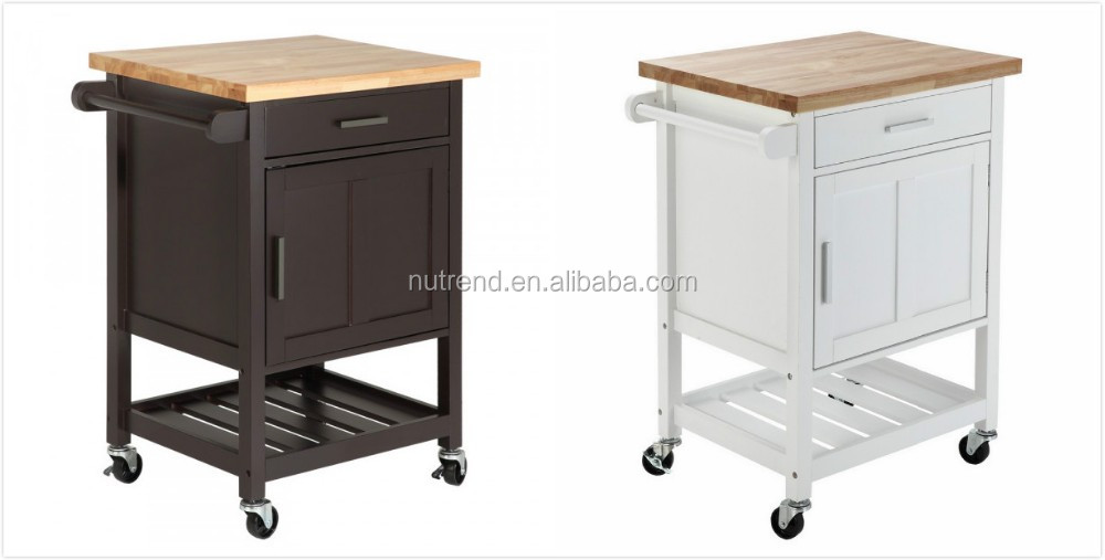 Mdf Kitchen Trolley With Wheels And Mobile Kitchen Island
