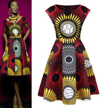 Femmes Robe Dessins Impression Vente Des De Africain Conçoit Manches Kitenge robes robe Dame Sans Numérique Top Buy Africaine ChQtsrd