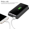2 in 1 Portable Rechargeable Battery 10000mAh Fast Charging QI Wireless Power Bank Pad For All cell phone