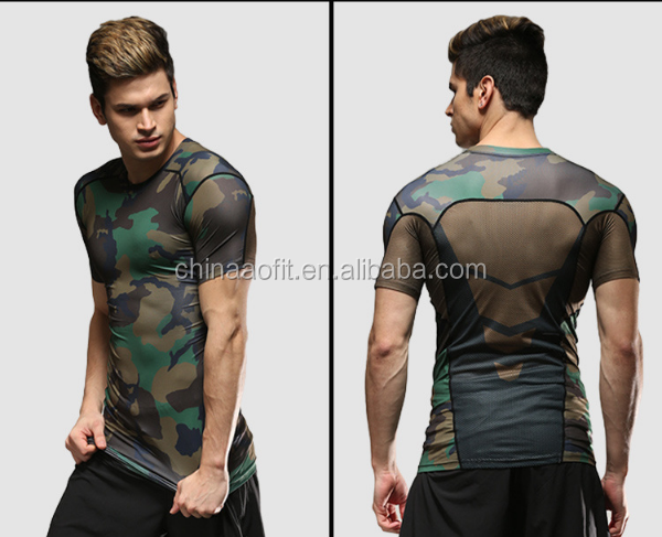 Camouflage Compression Tight Under Base Layer Top Shirt /T-Shirts