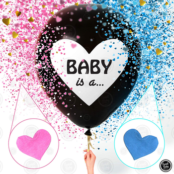 36 Inch Baby Gender Reveal Balloon for Boy or Girl Baby Shower Gender Reveal Party Supplies Decoration Set