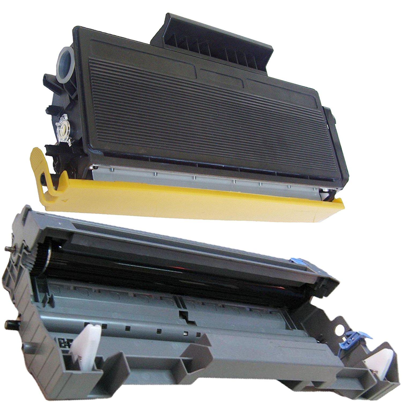 (1Drum+1Toner) Inktoneram Replacement toner cartridges & drum for Brother TN580 TN550 DR520 DR-520 TN-580 TN-550 Set DCP-8060 DCP-8065 DCP-8065DN HL-5240 HL-5250 HL-5250DN HL-5250DNT HL-5280