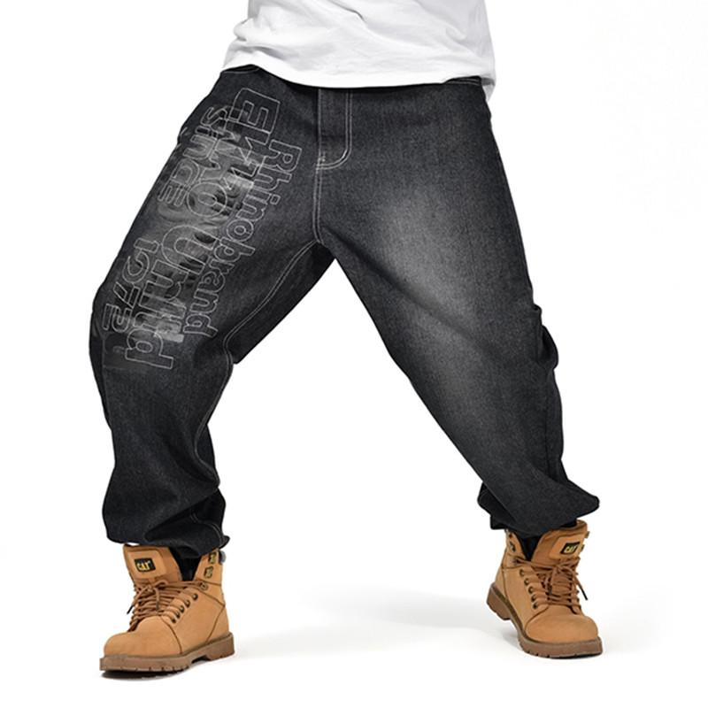 2019 Wholesale American Brand Mens Baggy Jeans Black Loose ...