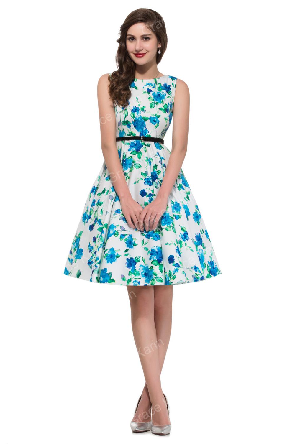 Grace Karin Rockabilly 50s Vintage Dress Plus Sizes Sexy Cocktail ...