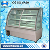 Bakery display showcase with front sliding door