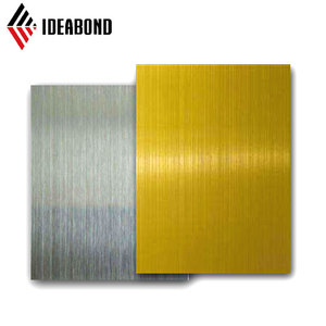 IDEABOND 1000 series PVDF coating brushed color aluminum sheets
