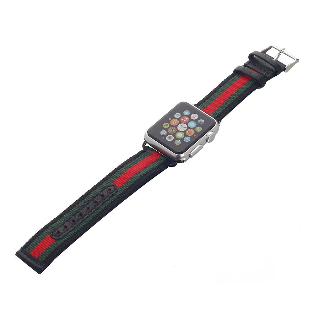 For apple watch band , nylon with genuine leather i watch bands for smartwatch