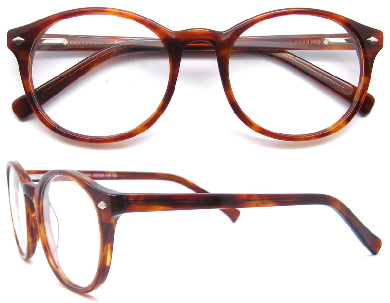 9224d2c95e6aa New model fashion designer round optical spectacle acetate eyewear frame  for women