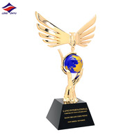 Longzhiyu 12years Manufacturer Factory Wholesale 3d trophy cup metal awards plating Gold Crafts trophy