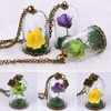 Wholesale Price Flower Necklace Real Rose Necklace Gold Plated Jewelry