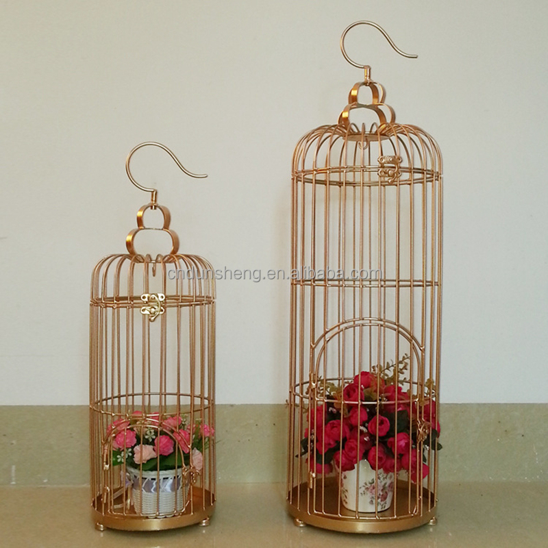 European hanging wrought iron bird cage shaped wedding decorations