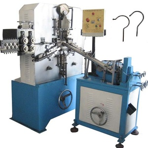 Automatic Wire Cloth Hanger Hook Making Machine with Threading and Head Rivet