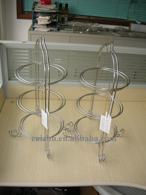 3 Tier Stainless Steel Dinner Plate Racks Dessert Plate