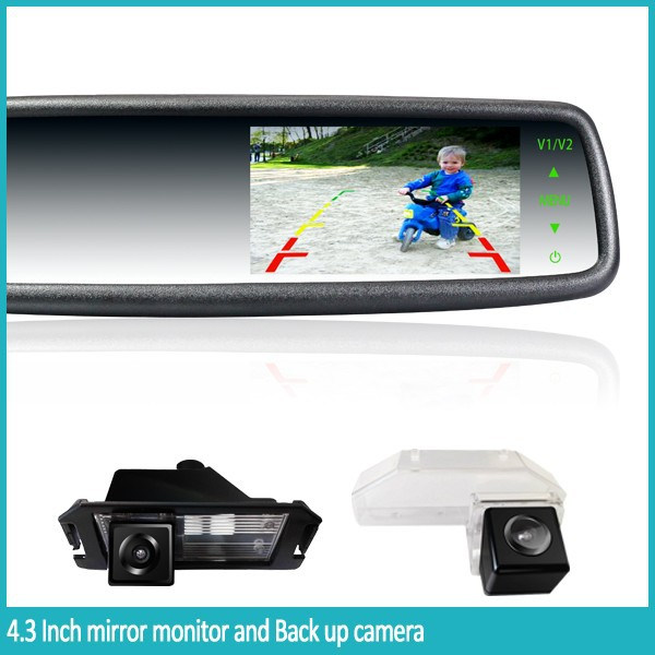 2015 Newest Car Rear View Mirror Wireless Reverse Camera And ...