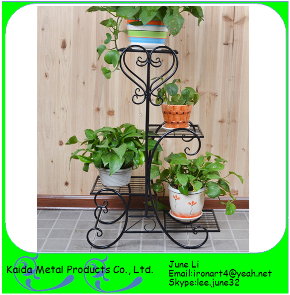 Decorative Wrought Iron Flower Pot Holder With Wheels Design Buy