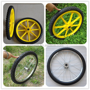 Bon 20 Inch Solid Polyurethane And Pneumatic Rubber Garden Cart Wheels