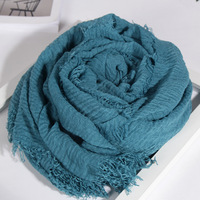 Wholesale cheap solid color scarf hijab fashion plain long big scarves