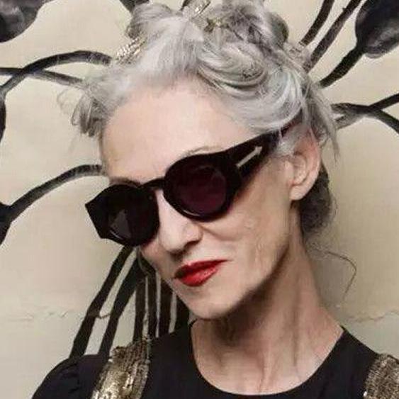 ccdc8affe4f 2016 Vintage Lunettes de soleil Rondes Pour Grand Visage Femmes Cercle En  Métal Miroir Lunettes de