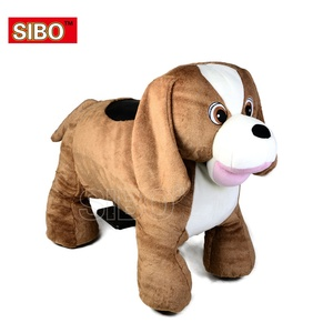 Mechanical sibo free machine racing car stuffed animal rides